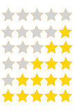 Star of rating. From 0 to 5 royalty free illustration