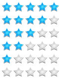 Star rating chart Royalty Free Stock Images