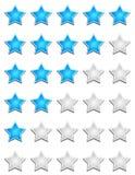 Star rating chart royalty free illustration