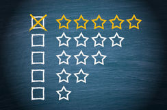 Star rating check boxes  Stock Photos
