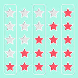 Star rating design Royalty Free Stock Photos