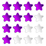 Star rating element with 4 star for valuation, review, voting co Stock Image