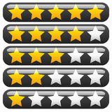 Star rating element for valuation, feedback, rating, user experi Stock Photo