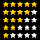 Star rating element for valuation, feedback, rating, user experi Stock Photos