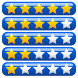 Star rating element for valuation, feedback, rating, user experi Royalty Free Stock Photos