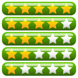 Star rating element for valuation, feedback, rating, user experi Stock Images