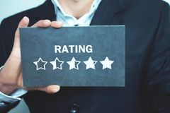 Star Rating. Evaluation and positive review royalty free stock image