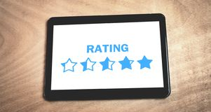 Star Rating. Evaluation and positive review royalty free stock photo
