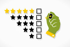 Star rating Stock Image