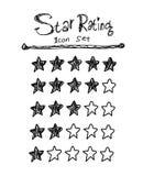 Star Rating Icon Set Royalty Free Stock Photo
