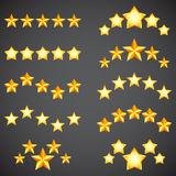 Star Rating Icons Stock Image
