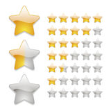 Star rating icons. In yellow Royalty Free Stock Image