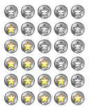 Star Rating Set Stock Image