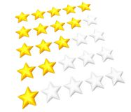 Star rating set Stock Photo