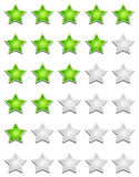 Star rating sign Royalty Free Stock Images