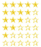 Star rating for 0 - 5 stars. Best rating Stock Photo