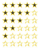 Star rating for 0 - 5 stars. Best rating. Vector Illustration Stock Photography