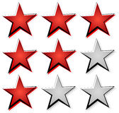 Star rating with 3 stars. Icon set for guality, rating, value co Stock Photography