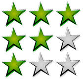 Star rating with 3 stars. Icon set for guality, rating, value co Stock Images