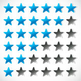 Star rating with 6 stars - Rating, feedback, rating concept Stock Photos