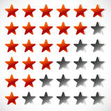 Star rating with 6 stars - Rating, feedback, rating concept Royalty Free Stock Photography