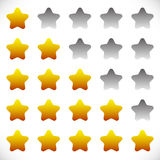 Star rating symbols with 6 star. Quality, feedback, experience, Stock Image