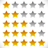 Star rating symbols with 6 star. Quality, feedback, experience, Royalty Free Stock Photography