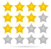 Star rating system (4 stars) Stock Photo