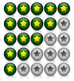 Star rating template Stock Photo