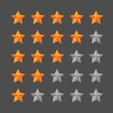 Star rating template. Graphic element royalty free illustration