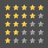 Star rating template. Graphic element stock illustration