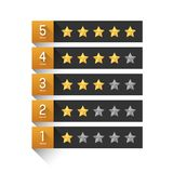 Star rating template. Graphic element vector illustration
