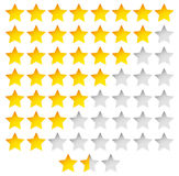 Star Rating Template Vector with group of stars Royalty Free Stock Photo