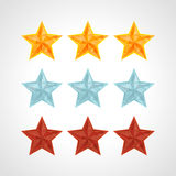 Star Rating Template Vector Stock Photo
