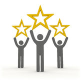 Star rating with three stars Royalty Free Stock Photography