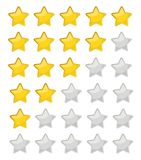 5 star rating. Vector illustration eps10. Isolated badge for web. Site or app - stock infographics vector illustration
