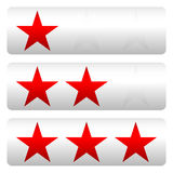 Star rating w/ 3 stars - Star rating panels Stock Image