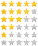 Star Rating zero up to five Stock Photo