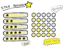 Star Ratings Sketch Royalty Free Stock Photography
