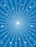 Star and ray. Abstract starry background with rays. Vector illustration Royalty Free Stock Image