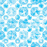 Star ray blue white snowflake seamless pattern Stock Photo