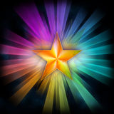 Star with rays Royalty Free Stock Photo