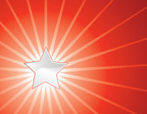 Star and rays Royalty Free Stock Photography