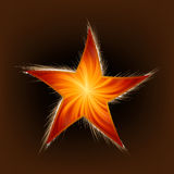 Star and Rays. EPS 8 Royalty Free Stock Images