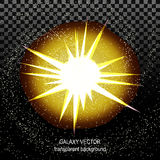 Star with rays white yellow in space isolated and effect tunnel Stock Image