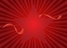 Star red background Royalty Free Stock Image