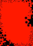Star red background frame. Star red background for best use your greeting card and background works Stock Image