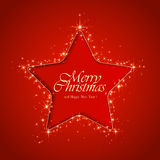 Star on red background Royalty Free Stock Photo