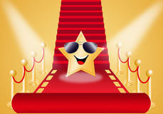Star on Red carpet Stock Image