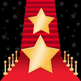 Star on Red carpet. For Oscars award Royalty Free Stock Image